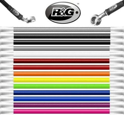 R/&G Piaggio Vespa PX 1996 2007 Braided Stainless Brake Line Hose