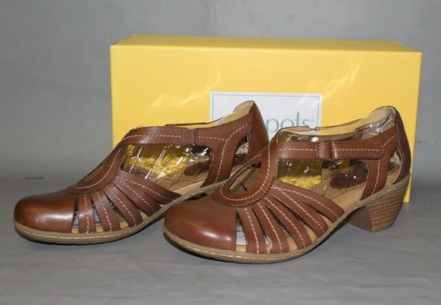 Women's Softspots Sally Brown Leather Dress Sandal, Comfortable & Supportive