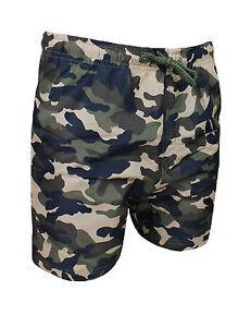 f3a2abc3ab47 Detalles de Bañador de Hombre Slim Fit Camuflaje Militar Verde Shorts  Pantalones Cortos