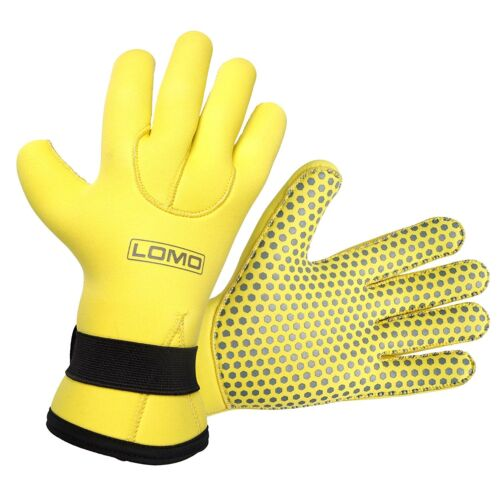 Lomo Yellow 5mm Neoprene Gloves - Diving, Watersports, Swimming, Snorkelling