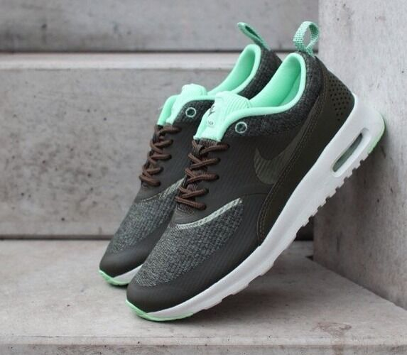70b8d4548fae Nike Womens Air Max Thea Premium Khaki Iron Green Ash Grey Sz 11 for sale  online