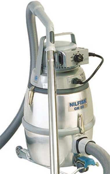 NILFISK 01790129 Critical Area Vacuums,80 cfm,HEPA,Cloth