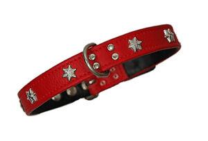 LEDASS92-Hundehalsband-STARLINE-Lederhalsband-Hund-6-Groessen-xxs-xs-s-l-xl-xxl