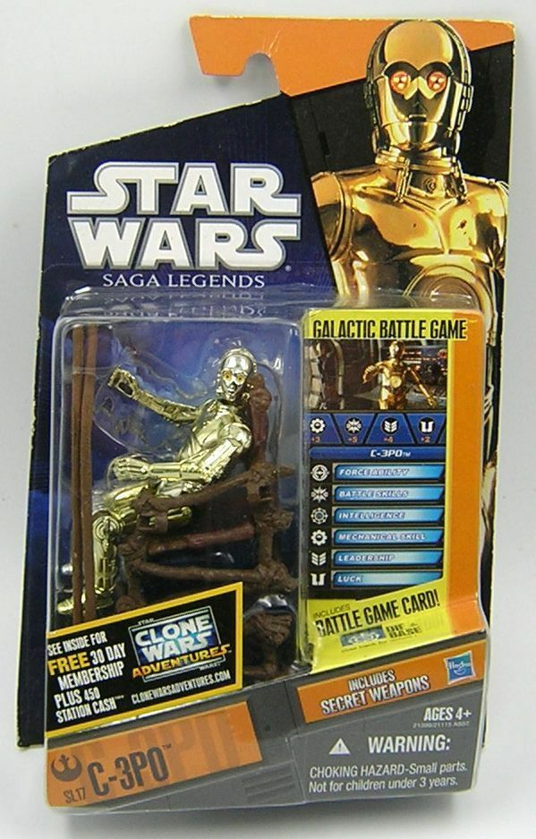 Star Wars Saga Legends 2010 SL17 C-3PO ( Ewok Chair )