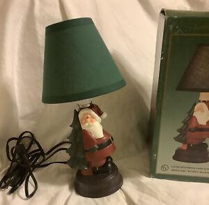 Cedar Creek Collection Christmas Santa Tree Figurine Lamp 11 K41890 Read Ebay