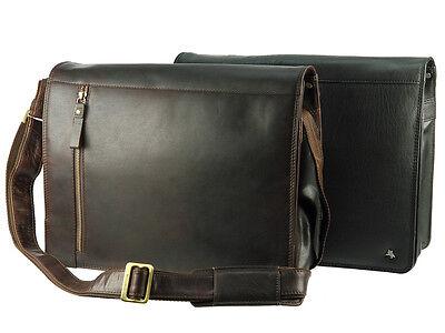 Visconti Da Uomo verdure abbronzata Buffalo Leather Laptop Borsa A Tracolla Messenger ml23 | eBay