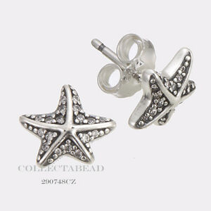 561e840a5 Image is loading Authentic-Pandora-Silver-Clear-CZ-Tropical-Starfish-Stud-