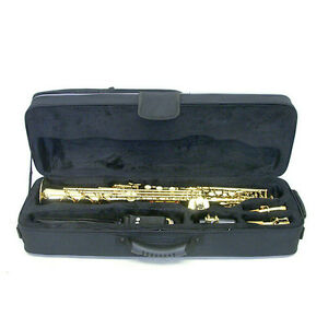 CASE-ONLY-Straight-Soprano-Saxophone-Case-Backpack-Shoulder-Straps-Handles
