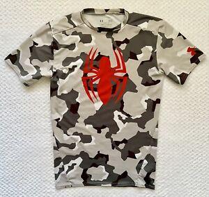 Por ley ensillar montículo  Marvel Spiderman Camisa de compresión Camo Under Armour Heat Gear para  hombre Talla Grande | eBay