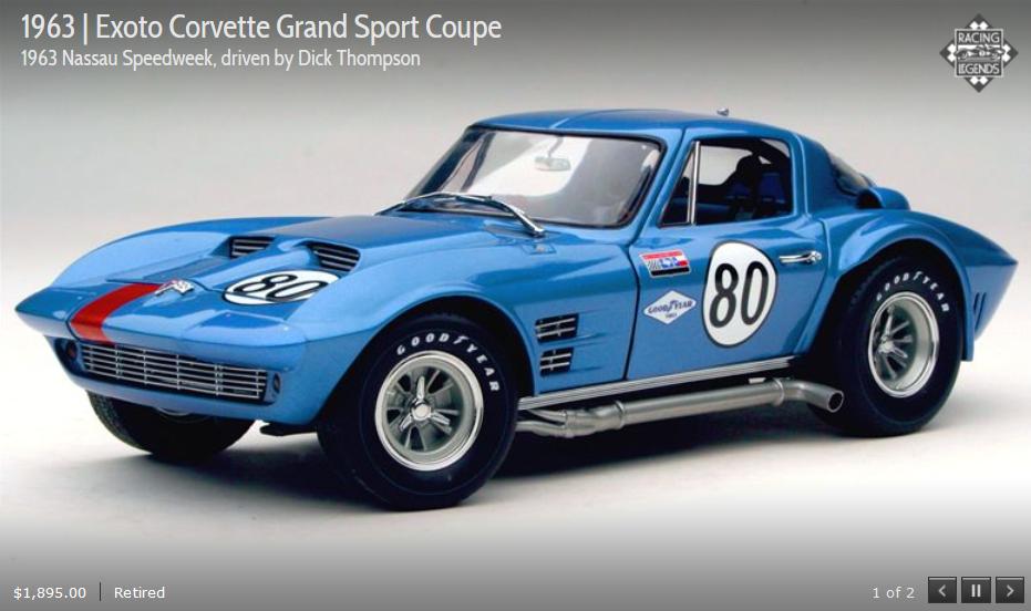 EXOTO 63 Corvette Grand Sport Coupe  80 Nassau Speedweek 1 18 New in Box  RLG18022