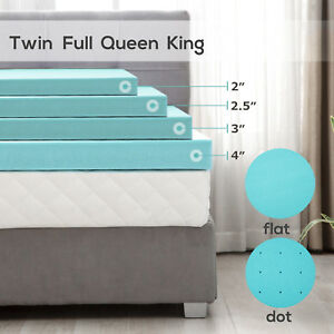 2-2-5-3-4-039-039-Comfort-Gel-Memory-Foam-Mattress-Cover-Topper-Twin-Full-Queen-King