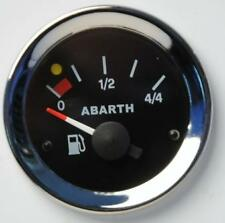 Manometro Strumento Road Italia Abarth Fiat 500 Livello Carburante Benzina Nero