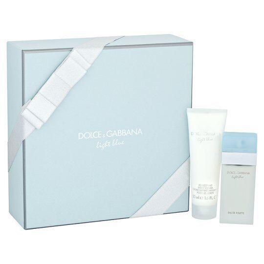 0e8d7972 Dolce & Gabbana Light Blue 25ml EDT Spray 50ml Body Cream Gift Set | eBay