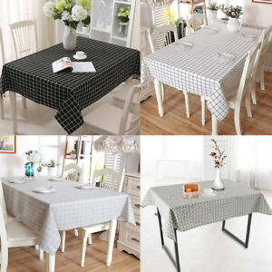 Image Is Loading DIY Waterproof Oil Proof Cotton Tablecloth Home Dining