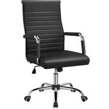 High Back Home Office Chair Pu Leather Executive Chairs Swivel Chairs With Wheels