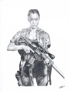 Print-Sonequa-Martin-Green-as-Sacha-Williams-the-walking-dead-JBL-drawings-LE