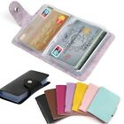 Men Women 24Cards ID Credit Card Holder PU Leather Pocket Case Purse Wallet Gift