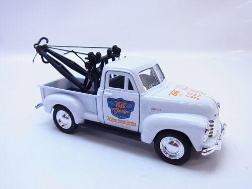 56312 Welly 1953 Chevrolet Tow Truck weiss Modellauto 1:40 NEU