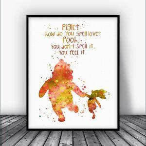 Image Is Loading Winnie The Pooh Quote Art Print Disney Nursery