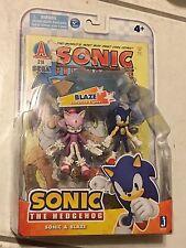 "Jazwares 3"" Sonic the Hedgehog & Blaze the Cat Action Figure Comic Book Pack NIB"