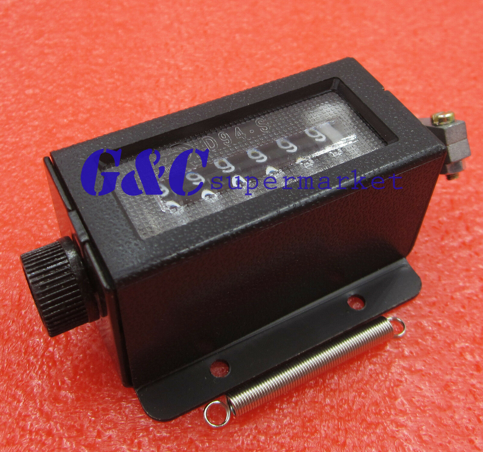 New D94-S 0-999999 6 Digit Resettable Mechanical Pulling Counter