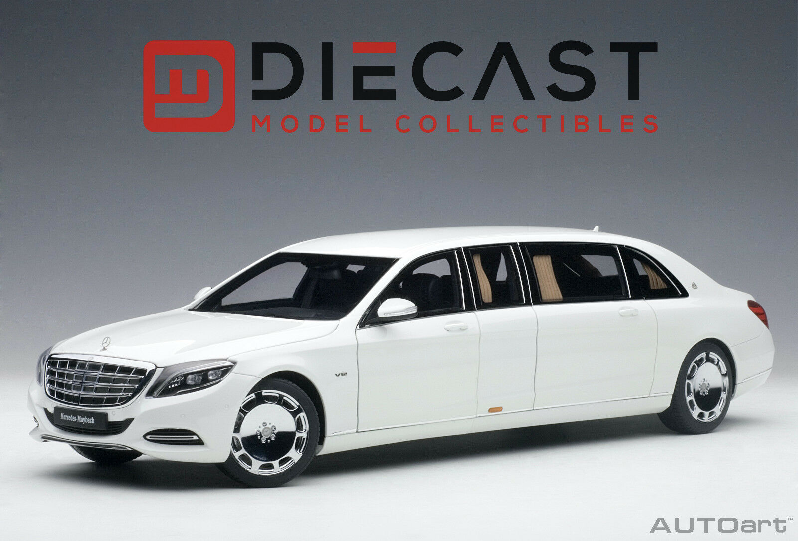 AUTOART 76296 MERCEDES-MAYBACH S 600 PULLMAN (WHITE) 1:18TH SCALE