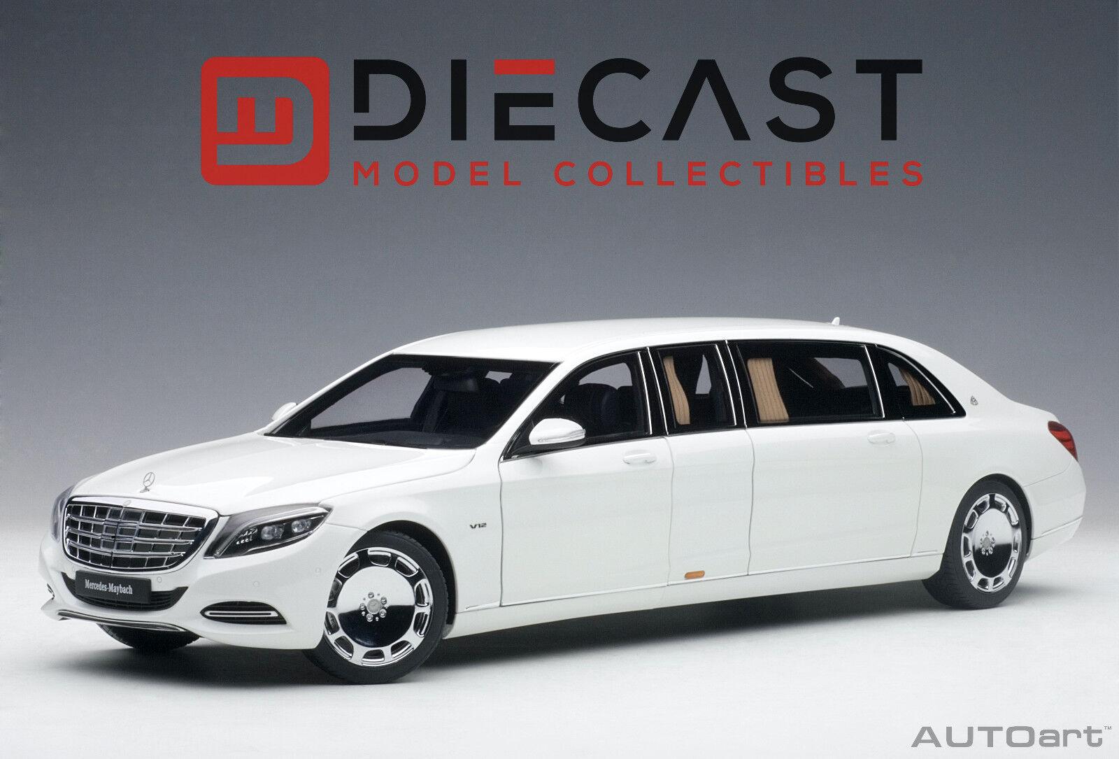 Autoart 76296 Mercedes-Maybach S 600 Escala Pullman (blancoo) 1 18TH