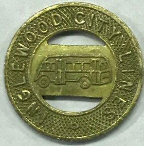 Mobile City Lines Transit Token  Good for one fare Vintage 25 Bus Tokens