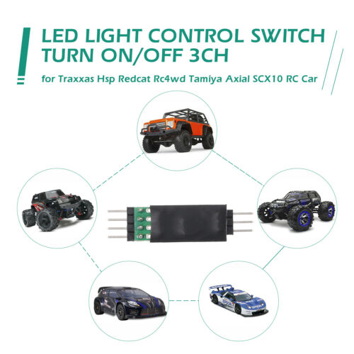 LED Lamp Light Control Switch Panel Turn On//Off 3CH for Traxxas Tamiya Car G5Q0