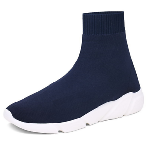 Mens Elastic Sock Shoes Comfort Breathable Running SIZE Trainers