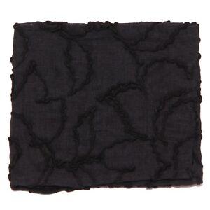 9128w Pochette Uomo No Brand Black Cotton Pocket Square Man Clair Et Distinctif