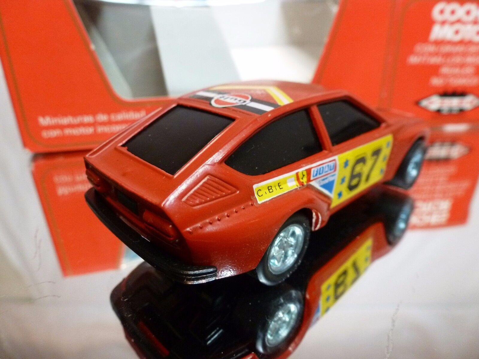 PILEN 253 ALFA ALFA ALFA ROMEO ALFETTA GTV 2000 - TEXACO GULF - RED 1 43 -VERY GOOD IN BOX dc50fe