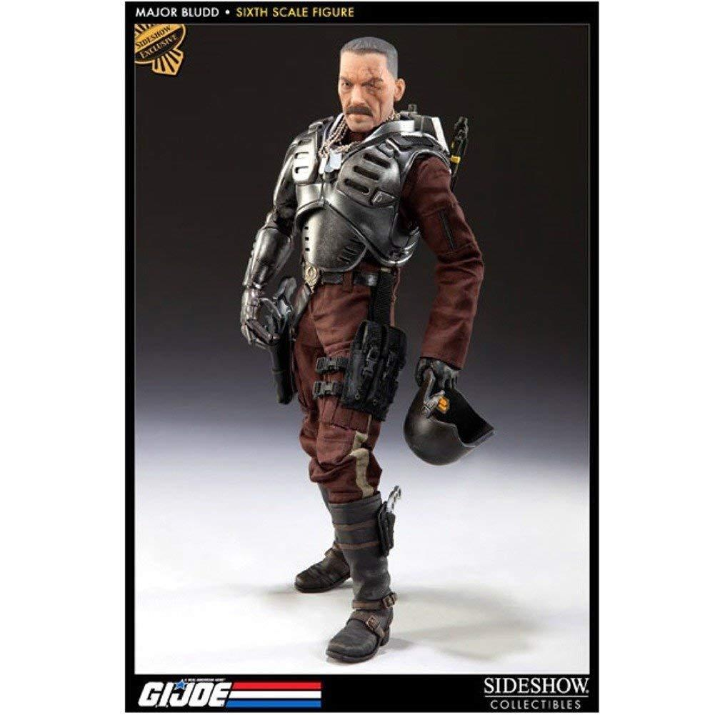 1 6 G.i Joe Major azuldd 12 in (approx. 30.48 cm) Figura Exclusiva Sideshow Collectibles utilizado JC