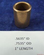 Bushing Bronze 9//16 id x 3//4 od x 1 long oilite sleeve Bearing spacer bush B41