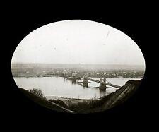 Caucase Ukraine c. 1900 - KIEV Pont sur le Dnieper - Verre Positif - 121