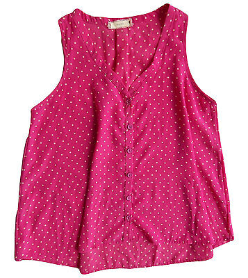 GAP Girls Tank Top Sleeveless Summer Spring Shirt YELLOW Polka Dot 6 7 14 16 NEW