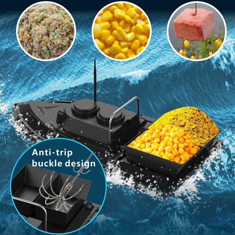 5.4kmh Pesca Bait Boat 500M Wireless Remote Control MOTOSCAFO ABS FISH FINDER