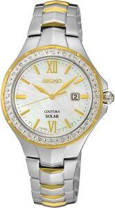 Seiko SUT240 SUT240P9 Coutura Ladies Solar Diamond Watch two-tone RRP $899.00