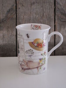 kaffee tasse becher gardening garten easy life fine bone china 250 ml ebay. Black Bedroom Furniture Sets. Home Design Ideas