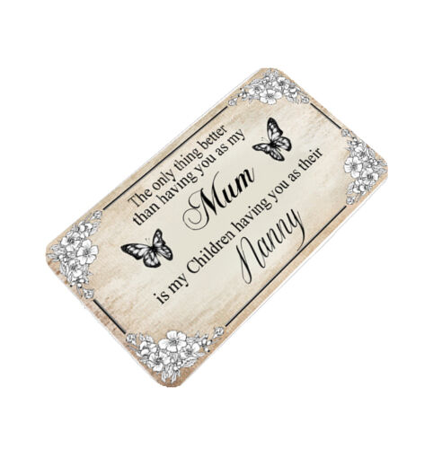 Métal aluminium portefeuille ou sac à main insérer carte souvenir Maman Grand-Mère Nounou Nanna Nan
