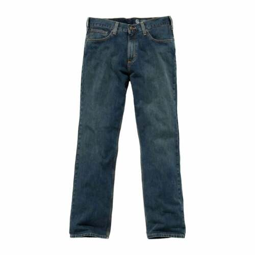 Weathered Blue Carhartt Relaxed Straight Jean Mens Pants Workwear Pant
