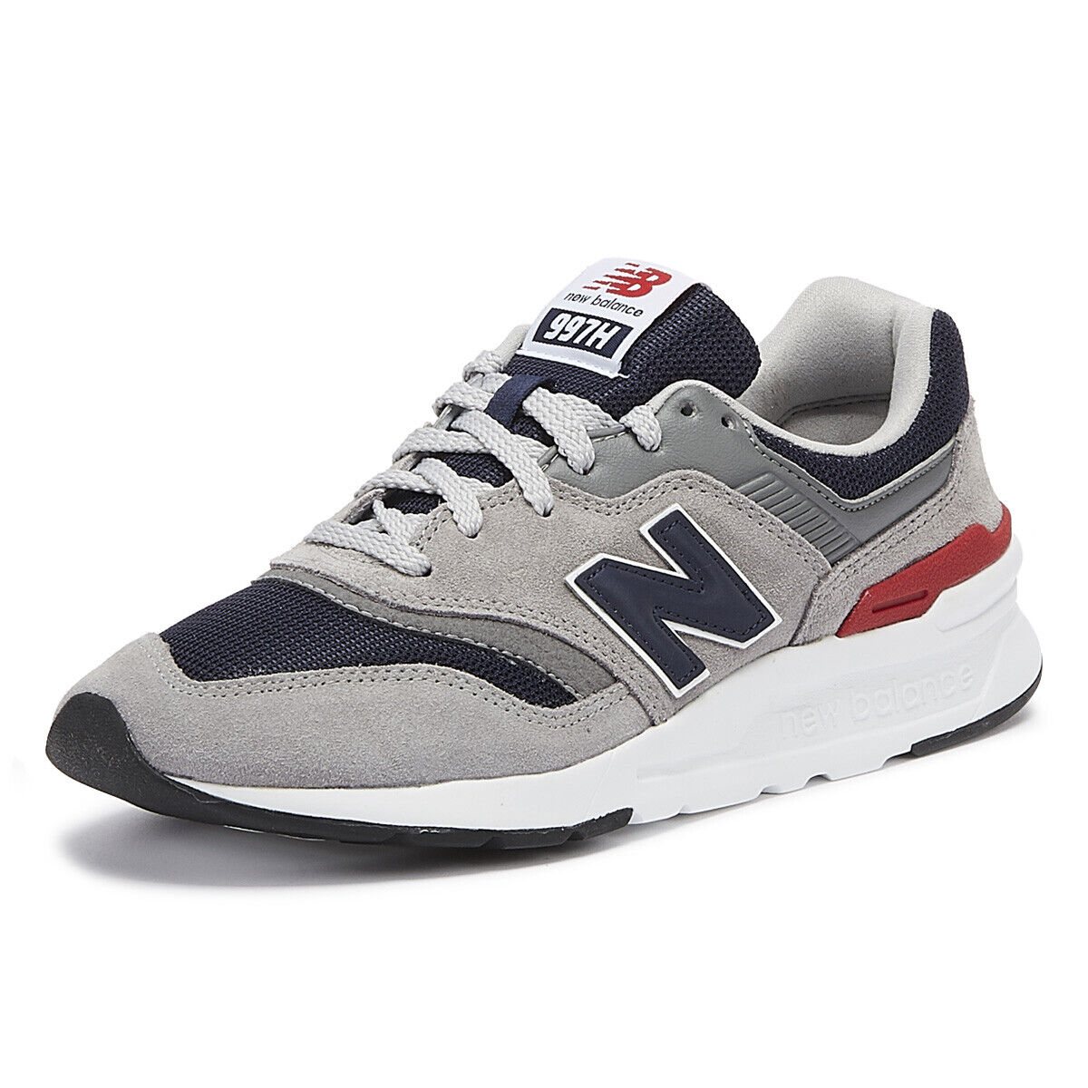New Balance 997 Mens Grey   Navy Trainers Sport Casual Lace Up Running shoes