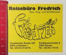 ADESIVI/Sticker: agenzia di viaggio Fredrich-bus, e volo viaggi nave (08051676)