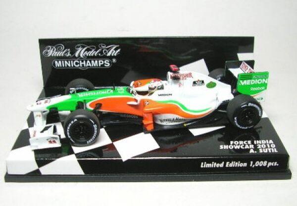 Force India N°14 A Sutil Formule 1 Voir L'Établissement car 2010