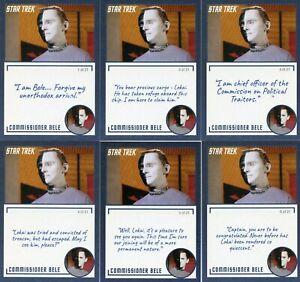 Star-Trek-TOS-Archives-amp-Inscriptions-card-83-Commissioner-Bele-21-different-Var