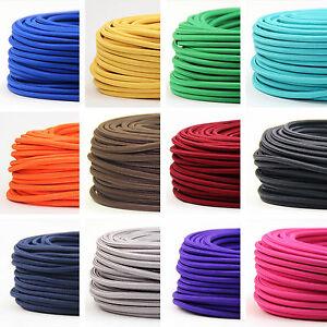 Textilkabel Stoffkabel 3 Adrig Lampen Kabel Stromkabel Elektrokabel Verlangerung Ebay