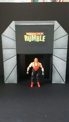bigger scale wwe custom attitude raw is war stage for wrestling figures