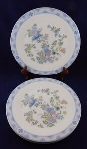 4-ROYAL-DOULTON-CONISTON-BONE-CHINA-H5030-BLUE-FLORAL-DINNER-PLATE-10-5-8-034