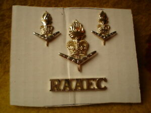 E-4-X-ROYAL-AUSTRALIAN-ARMY-METAL-BADGES-RAAEC