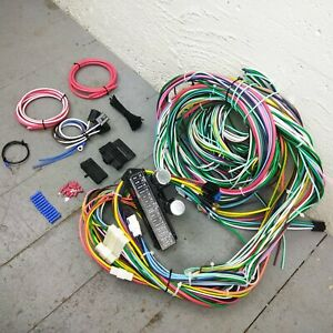 1982-1991 jeep 12v underdash wire harness 24 circuit fuse box wiring  upgrade kit | ebay  ebay